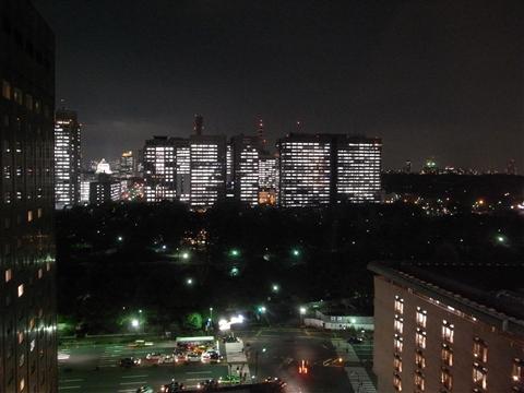 帝国ホテルの夜景