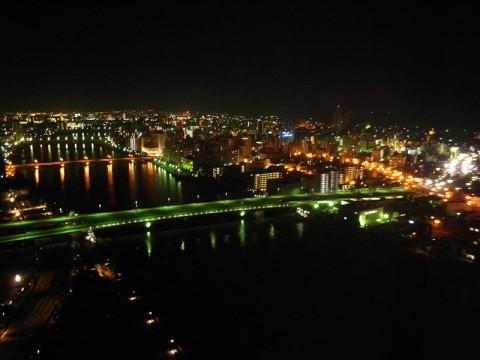 ホテル日航新潟から万代橋の夜景